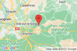 Map of Cabrieres-D'Avignon