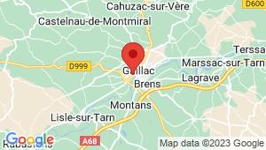 Carte de localisation du centre de contrôle technique GAILLAC