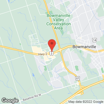 Map of Burger King at 105 Clarington Blvd, Bowmanville, ON L1C 4Z3