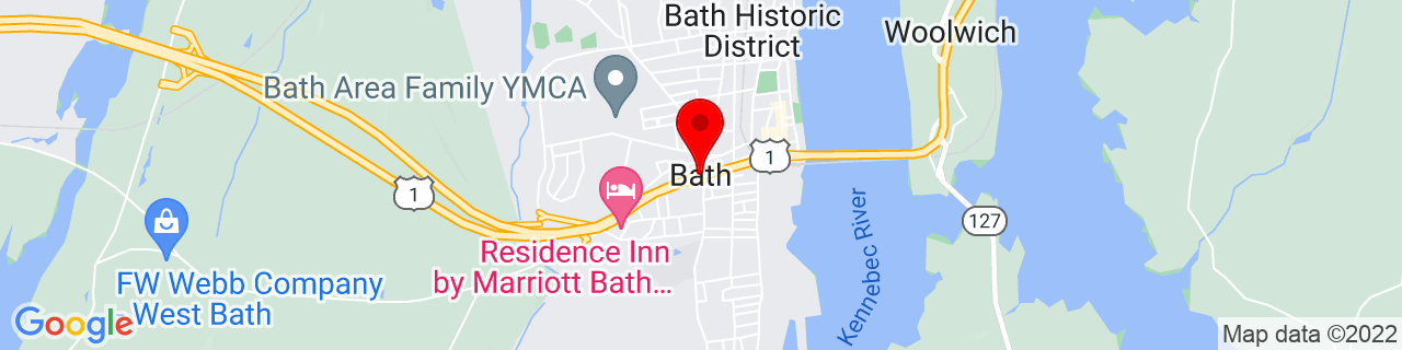 Google Map of 43.9106353, -69.8206023