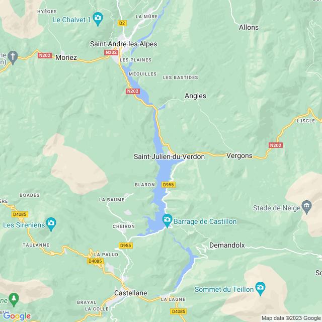 Locatie Lac de Castillon