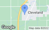 Map of Cleveland, WI