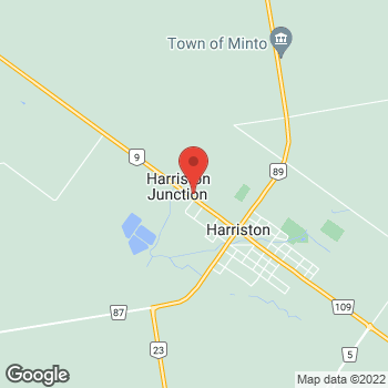 Map of Tim Hortons at 182 Elora St North, Harriston, ON N0G 1Z0