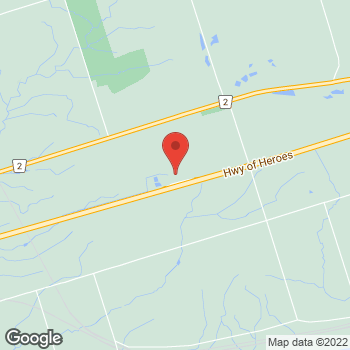 Map of Tim Hortons at 3962 Highway 401 W, Newcastle, ON L1B 1C2