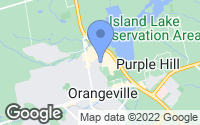 Map of Orangeville, ON