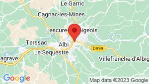 Carte de localisation du centre de contrôle technique ALBI