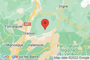 Map of Provence-Alpes-Cote d'Azur