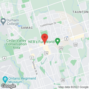 Map of Arby's at 300 Taunton Rd. E, Oshawa, ON L1H 7K4
