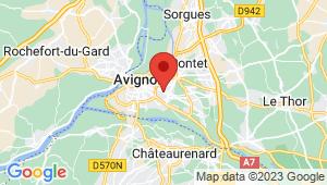 Carte de localisation du centre de contrôle technique AVIGNON