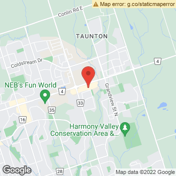 Map of Dr. Nadia Khan and Associates at 941 Taunton Road East, Oshawa, ON L1H 7K5