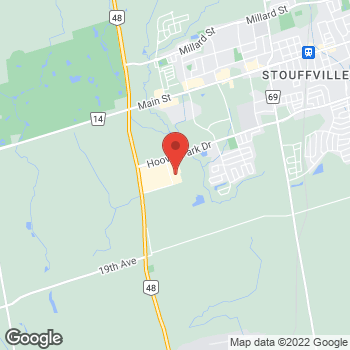 Map of Staples Print & Marketing Services at 1010 Hoover Park Drive, Stouffville, ON L4A 0K2