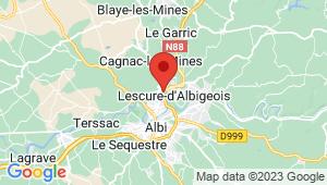 Carte de localisation du centre de contrôle technique LESCURE D ALBIGEOIS