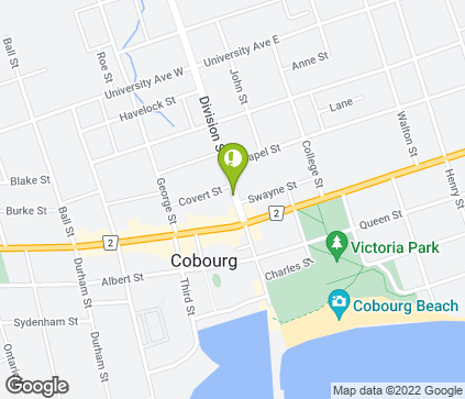 Map of 257 Division St in Cobourg