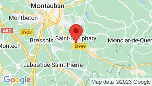 Carte de localisation du centre de contrôle technique SAINT NAUPHARY