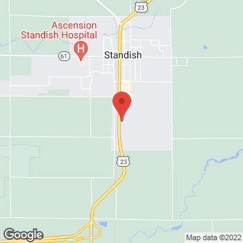 Map of Arby's at 3919 S Huron Rd, Standish, MI 48658-9474