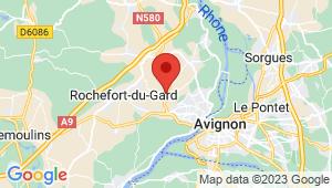 Carte de localisation du centre de contrôle technique VILLENEUVE LES AVIGNON