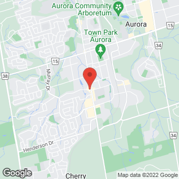 Map of Tim Hortons at 14872 Yonge St, Aurora, ON L4G 1N2