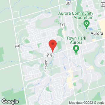 Map of Tim Hortons at 126 Wellington St West, Aurora, ON L4G 2N9