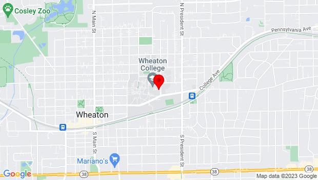 Google Map of 430 Howard St., Wheaton, IL