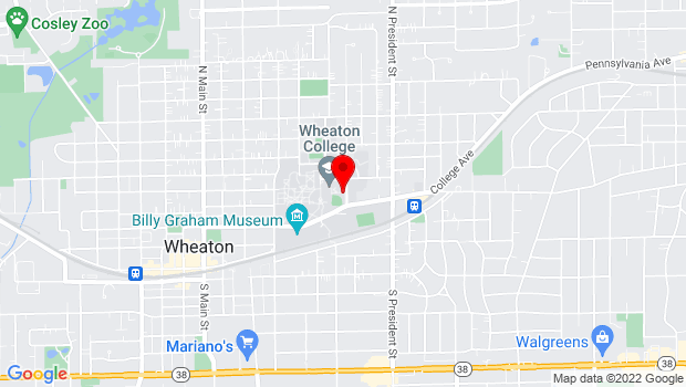 Google Map of 430 Howard St., Wheaton, IL 60187