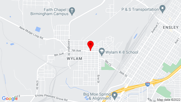 Google Map of 4300 7th Ave, Wylam, Birmingham, Alabama 35224