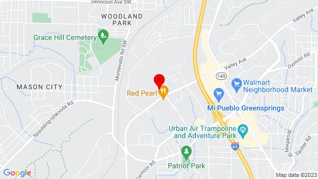 Google Map of 4300 Hampton Heights Drive, Homewood, AL 35209