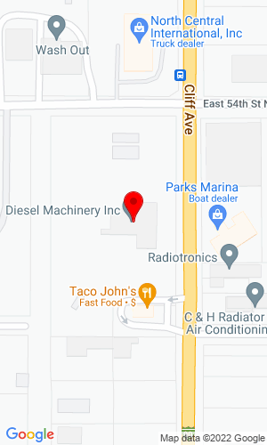 Google Map of Diesel Machinery, Inc. 4301 North Cliff Avenue, Sioux Falls, SD, 57104