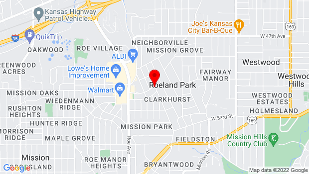 Google Map of 4301 West 51st Street, Mission, KS 66205