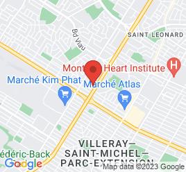 Google Map of 4305+Metropolitain+Est%2CMontreal%2CQuebec+H1R+1Z4