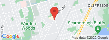 Google Map of 431+Danforth+Road%2CScarborough%2COntario+M1L+3X8