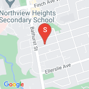 Road Map of 432 Horsham Ave, Toronto, On