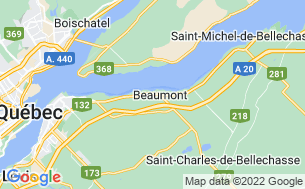 Map of Camping Parc Beaumont