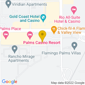 Map to Pearl Concert Theater - The Palms provided by Google