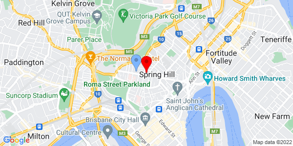 Google Map of 433 Boundary St, Spring Hill, QLD