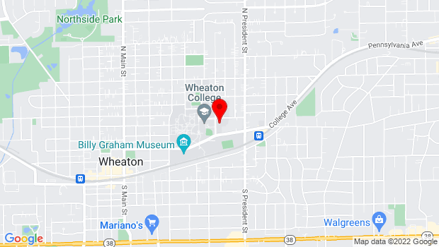 Google Map of 433 Howard St., Wheaton, IL 60187