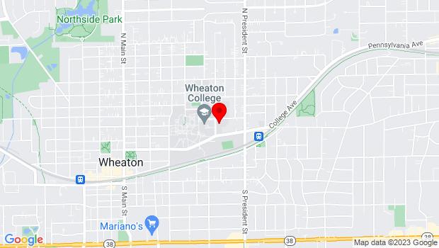 Google Map of 433 North Howard St., Wheaton, IL 60187