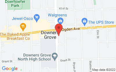 Map of Downers Grove