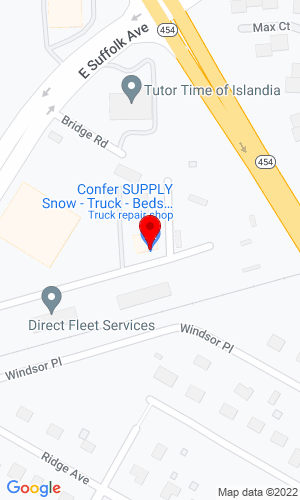 Google Map of RBR Melville Contractors, LLC 434 Old Suffolk Avenue, Islandia, NY, 11749
