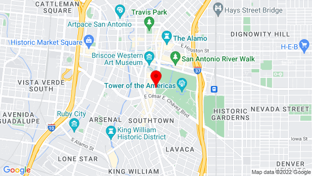 Google Map of 434 S. Alamo St., San Antonio, TX 78205