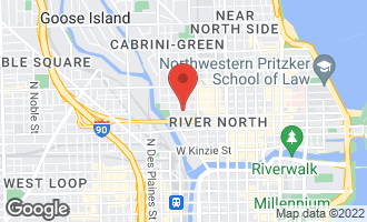 Map of 435 West Erie Street #1708 CHICAGO, IL 60654