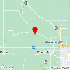 Google Map of 4350 Bailey Rd Jackson, MI 49201