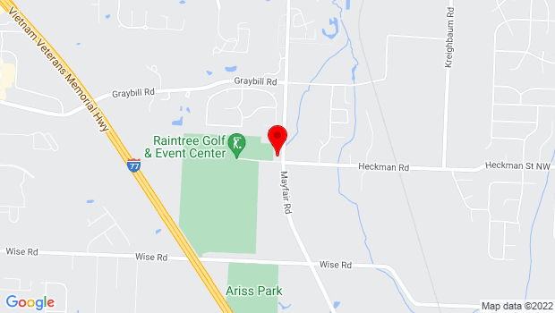 Google Map of 4350 Mayfair Rd., Green, OH 44685