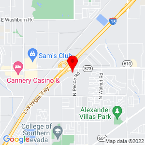 Google Map of 4351 Corporate Center Dr. Suite 302 North Las Vegas, NV 89030