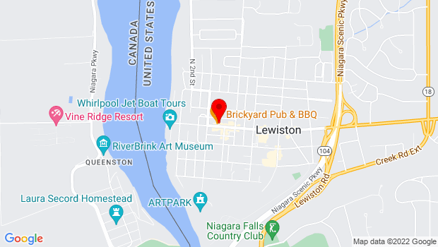 Google Map of 436 Center Street, Lewiston, NY 14092