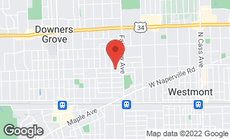 Map of 437 Chicago Avenue DOWNERS GROVE, IL 60515