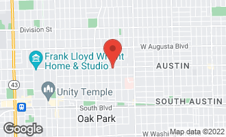 Map of 437 North Lombard Avenue #1 OAK PARK, IL 60302