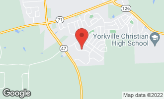 Map of 437 Sutton Street Yorkville, IL 60560