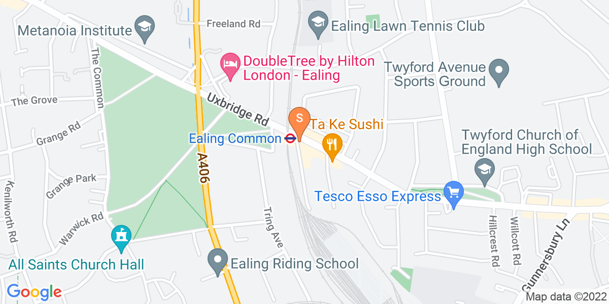 Google Map of 437b Uxbridge Road London W5 3NT