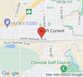 Google Map of 44+-+2nd+Avenue+N.W%2CSwift+Current%2CSaskatchewan+S9H+3V6
