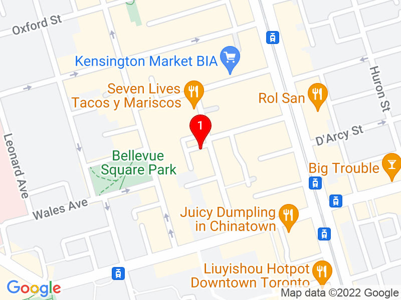 Google Map of 44 Kensington Ave, Toronto, ON